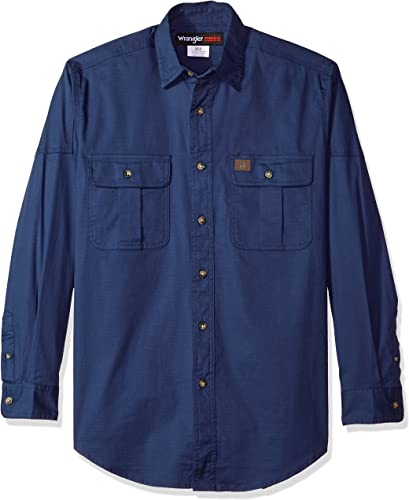 Wrangler Hommes's Riggs vêtehommests de travail Advanced Comfort Work Shirt Shirt, Indigo, XXL
