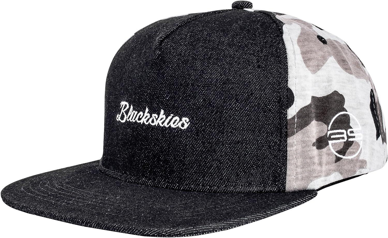 Blackskies Snapback Cap Suede Camuflaje Denim Franela Gorra de béisbol Premium Unisex Lana