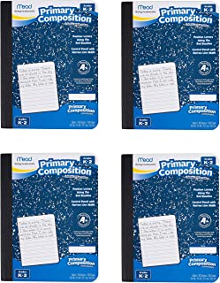 Mead Composition Book/Notebook, Primary, Grades K-2, Wide Ruled Paper, 100 Sheets, Sold as 4 Pack