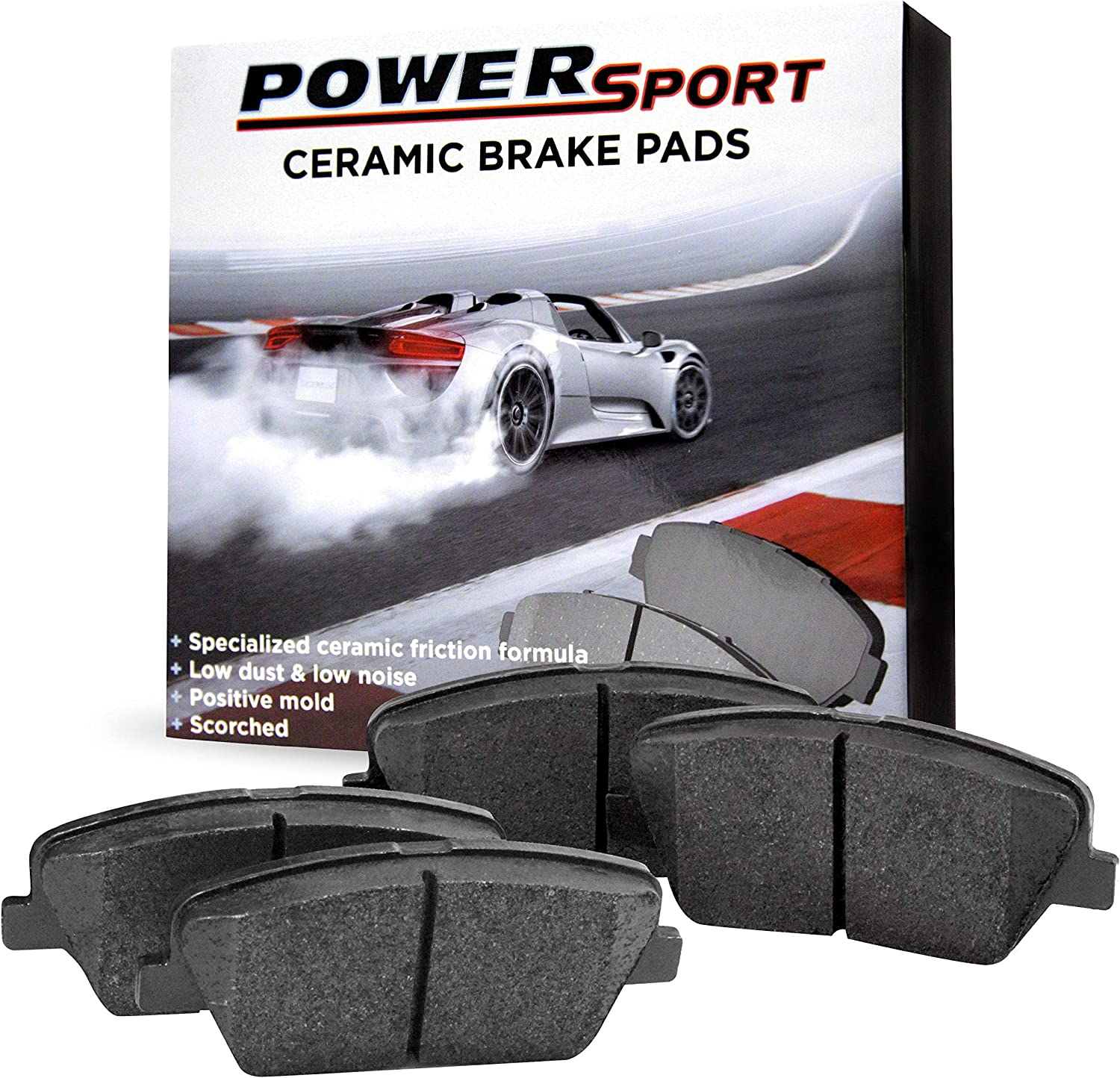 PowerSport Ceramic Series Brake Pad With Rubber High order Shi Free shipping on posting reviews Steel