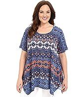 Nally & Millie - Plus Size Tile Print Tunic