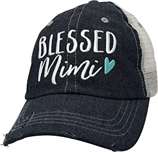 Blessed Mimi Embroidered Baseball Hat Mesh Trucker Style Hat Cap Mothers Day Pregnancy Announcement Dark Grey