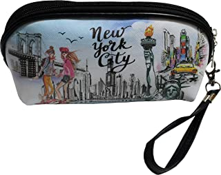 New York Statue of Liberty Landmarks Fashion Cosmetic Pencil Bag Wristlet