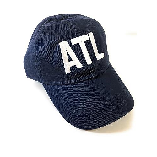 27efaf36a60 Mary s Monograms Adams ATL Airport Code Baseball Hat - Navy Blue