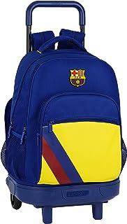 Mochila Escolar con Carro Incluido y Espalada Acolchada de FC Barcelona, Multicolor (FC Barcelona 2ª Equip 19/20)