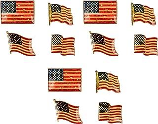 GIFTCO American Flag Metal Pins - Set Of 12