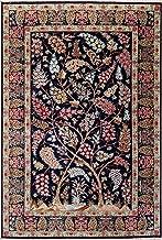 4'4 x 6'5 Silk Persian Qom Tree of Life Rug