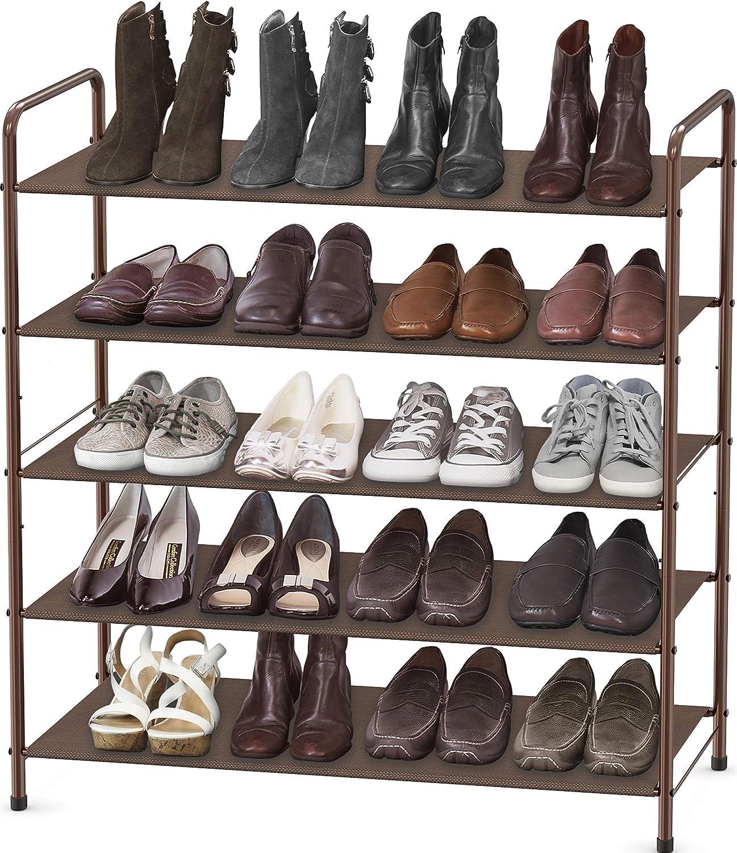 Simple Houseware 5-Tier Shoe Bronze SALENEW very Direct store popular Organizer Rack Storage