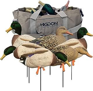 Higdon Outdoors Magnum Full-Body Mallard, Variety Pk, Flocked Heads + Bag