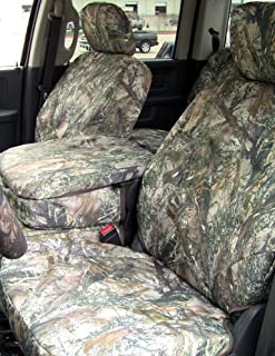 Exact Seat Covers, DG11 MC2-C, 2009-2012 Dodge Ram 1500 and 2010-2012 2500-3500 Front and Rear Seat Set. Front 40/20/40 with Opening Console. Rear Solid Bench Seat. MC2 Camo Endura Custom Exact Fit Seat Covers