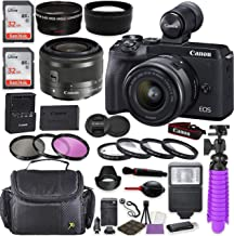 Canon EOS M6 Mark II Mirrorless Digital Camera (Black) EVF-DC2 Viewfinder Kit with Canon EF-M 15-45mm is STM Lens (Graphit...