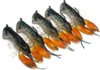CATCHSIF 5PCS Inner Shaky Head jig Tail Soft Craw baits 3D scan of Actual Crayfish