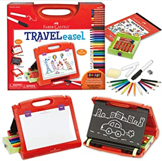 Best Faber-Castell Do-Art 3-in-1 Travel Easel - 30 Piece Tabletop Easel for Kids with Art Supplies, Multicolor Review
