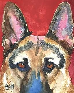 "German Shepherd Art Print   K9 Memorial Gifts   From Original Painting by Ron Krajewski   Hand Signed Artwork in 8x10"" and 11x14"" Sizes"