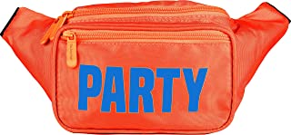 SoJourner Bum Bag Fanny Pack Neon Party - Orange | for women, men and kids | cute fits small medium large