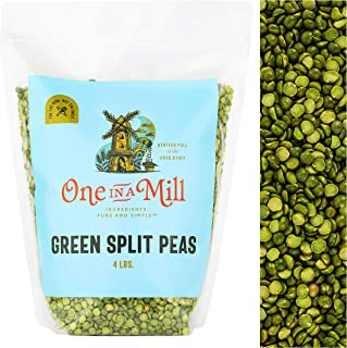 One in a Mill Dried Green Split Peas 4lb Bulk Resealable Bag | For Soup, Stews, & Curries | All-Natural Plant-Based Protei...