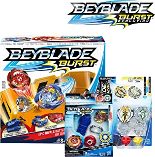 BEYBLADE Burst Bundle Exclusive -- Epic Rivals Battle Set, Rip Fire Starter Pack Spryzen S2, Dual Pack Xcalius X2 and Yegdrion Y2