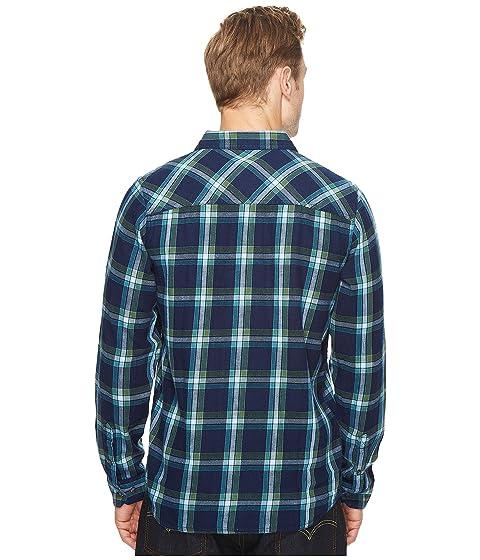 Sleeve Shirt Toad Long Flannel amp;Co Indigo Slim qXPYROP