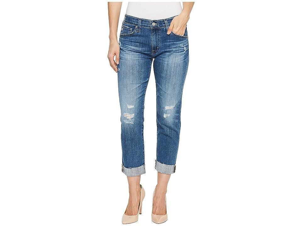 Image of AG Adriano Goldschmied Ex-Boyfriend Slim in 11 Years Teal Sky (11 Years Teal Sky) Women's Jeans