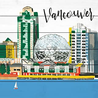 Marmont Hill Vancouver Lakeview by Molly Rosner Painting Print on White Wood 40x40 Multicolor