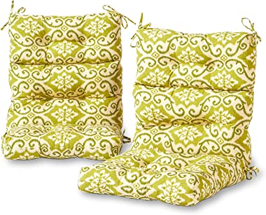 Greendale Home Fashions Outdoor High Back Chair Cushion (set of 2), Shoreham