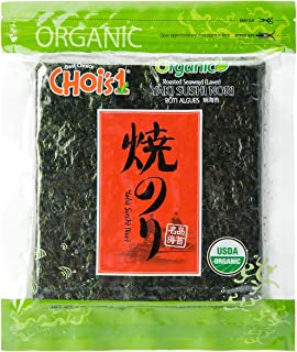 Sponsored Ad - Organic Daechun(Choi's1) Roasted Seaweed, GIM (50 Full Sheets), Resealable, Gold Grade, Product of Korea