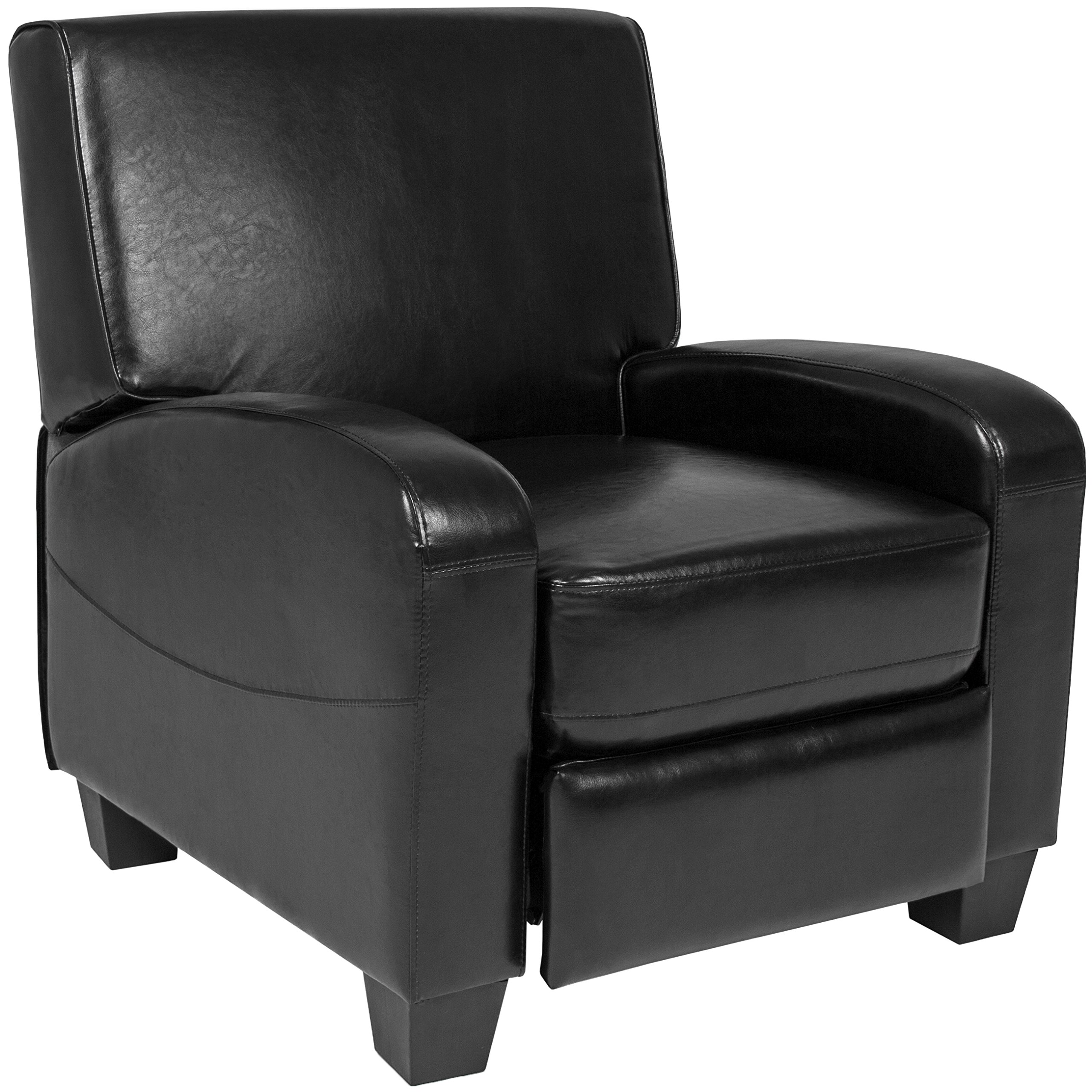 Best Choice Products Padded Upholstery Faux Leather Modern Single Recliner Chair for Living Room, Home Theater Black