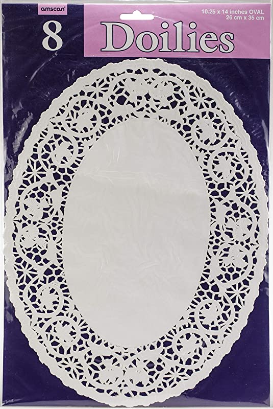 White Oval Doilies 10 25 X 14 Party Supply