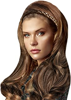 Mia Jumbo Braidie, Braided Hair Accessory Made of Synthetic Wig Hair, Medium Brown, 3/4 Inch Wide, for Women, Teens, Girls...