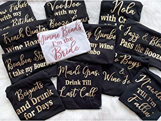 Nola Bachelorette Party Shirts, Funny Bridesmaid Shirts, Bachelorette Tanks, Bridal Party Shirts, Custom Shirts