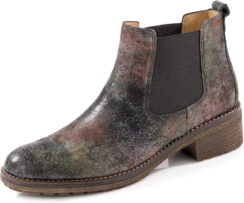 Gabor 91.610-40 Damen Chelsea Stiefel aus Effektleder mit Lederfutter Profilsohle