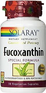 Solaray Fucoxanthin Special Formula Vegetarian Capsules, 400 mg   30 Count
