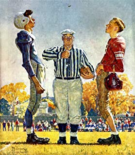 Coin Toss Norman Rockwell Print - 8 in x 9 in - Matted to 11 in x 14 in - Mat Colors Vary