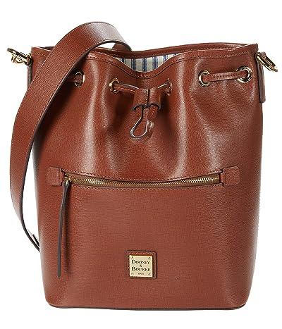 Dooney & Bourke Saffiano II Drawstring (Amber) Drawstring Handbags