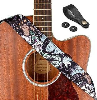 """Guitar Strap, Unique""""Black Tortoise"""" Shoulder Strap Includes Strap Button & 2 Strap Locks For Bass, Electric & Acoustic Gu..."""