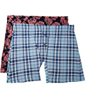 Printed Knit Boxer Brief Set