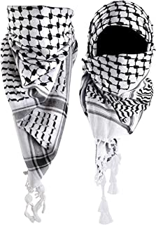 Mora Premium Shemagh Scar - Beautiful Gift Box - Large Arab Tactical Military Desert Head Neck Keffiyeh Wrap with Tassels