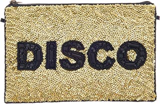 From St Xavier Women's Disco Clutch, Black/Gold, One Size