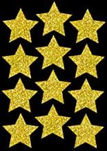 """Star Magnets, Write-On Wipe-Off, 3"""", Package of 12 (Gold Sparkle)"""