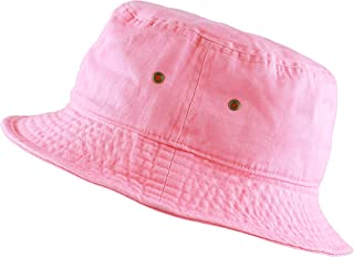 f4e470caf97a5 THE HAT DEPOT 300N Unisex 100% Cotton Packable Summer Travel Bucket Beach  Sun Hat