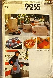 Simplicity 9255 Sewing Pattern Kitchen Appliance Covers Pot Holders Bun Warmer Apron Napkins
