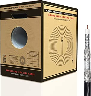 Mediabridge Coaxial Cable - RG6 Quad-Shielded - UL CL2 Rated for in-Wall Use - Black (500 feet) Pull-Out Box (Part# CC6QB-500)