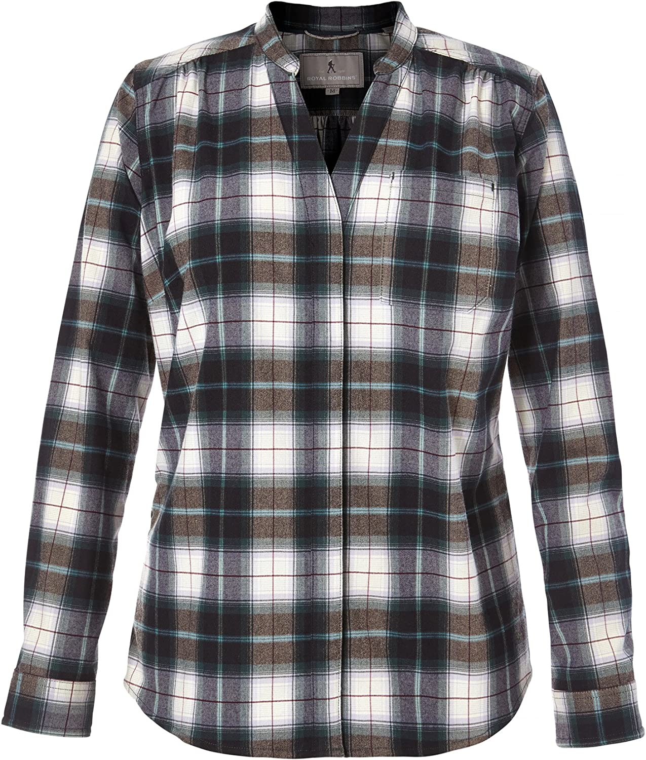 Royal Robbins Women's Merinolux Plaid Flannel Top