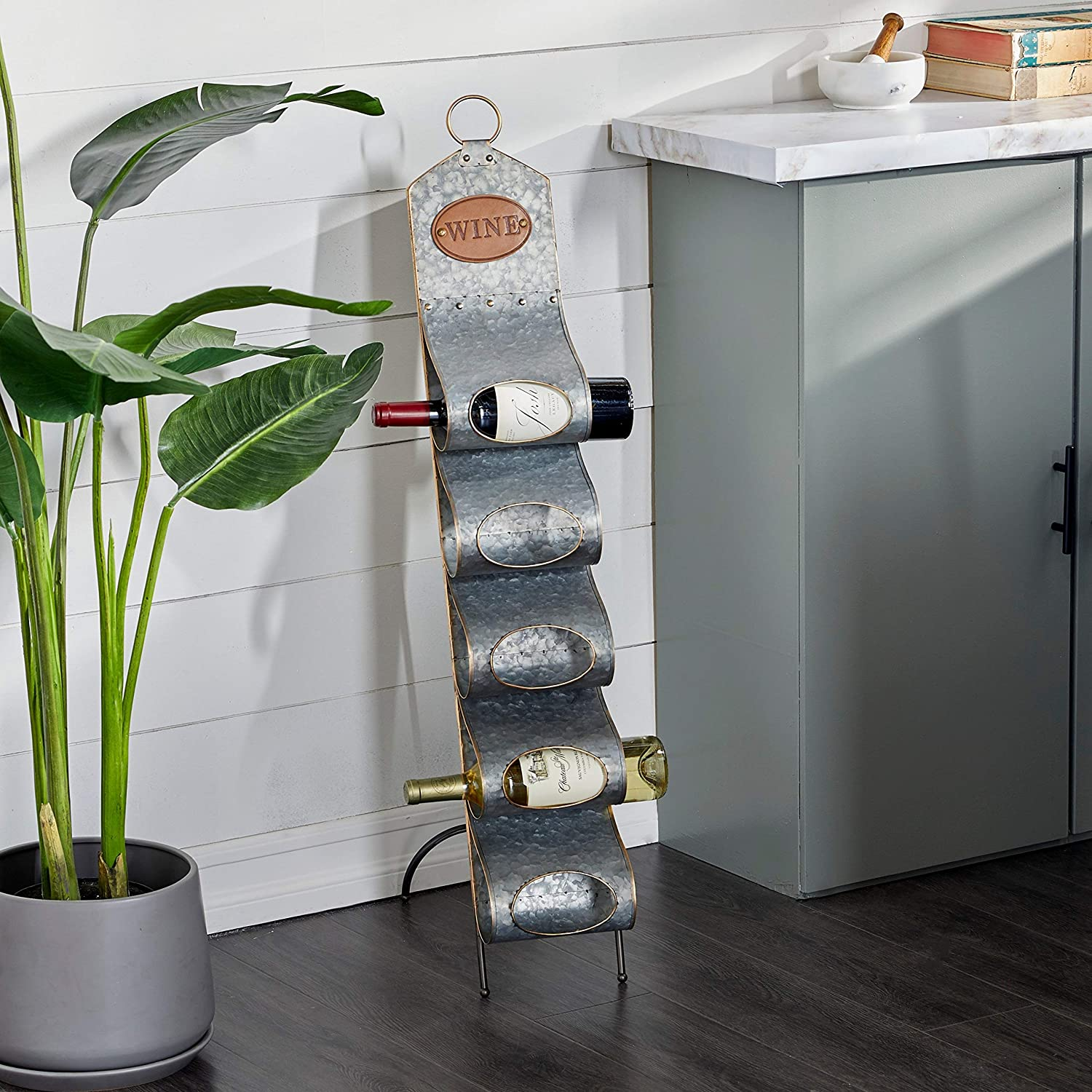 Unknown1 Grey Metal Contemporary Standing San Diego Mall Wine Mo 7 40 17 Max 59% OFF X Rack