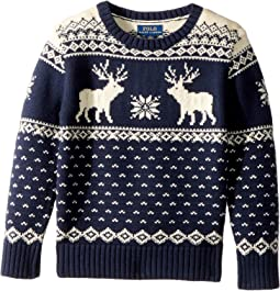 Polo Ralph Lauren Kids - Reindeer Cotton-Wool Sweater (Little Kids/Big Kids)
