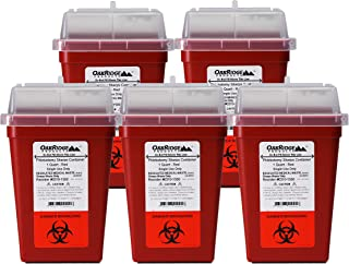 OakRidge Products 1 Quart Size (Pack of 5) Needle and Syringe Disposal Container