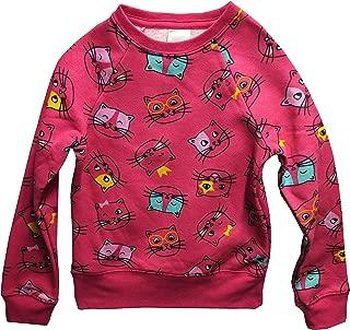Kitty Cat Sweater for Girls Pink All Over Fleece Sweatshirt