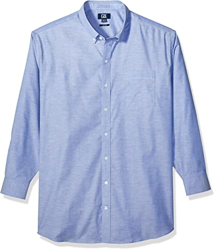 Cutter & Buck Hommes's Wrinkle Resistant Stretch manche longue Button Down Shirt, French bleu Oxford, Xgrand Tall