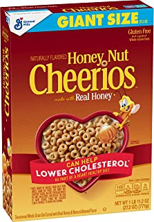 Honey Nut Cheerios, Gluten Free Cereal With Oats, 27.2 Oz