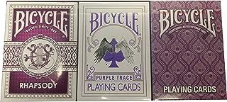Bicycle Lot 3 Purple Set Rhapsody Trace & Peacock